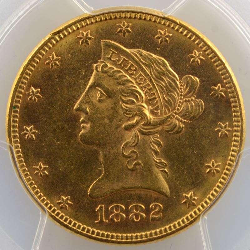 Ten D.   1882 (Philadelphie)   Liberty Head    PCGS-MS61    SUP/FDC