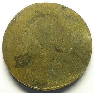 (Kirk 1744)   Médaille uniface en cuivre   40mm    SUP