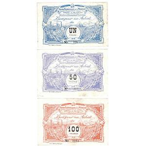 ---   Un Franc, 50 Francs, 100 Francs    SUP