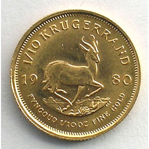 1/10 Krugerrand   1980    SUP/FDC