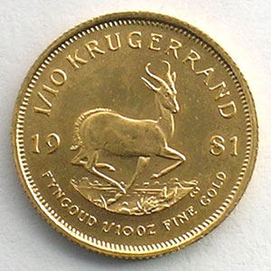 1/10 Krugerrand   1981    SUP/FDC