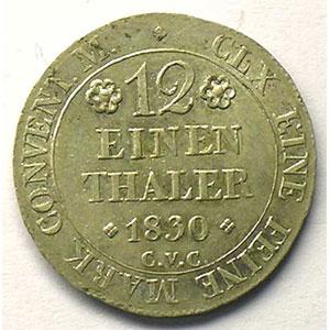 1/12 Thaler   1830    TTB+/SUP