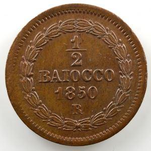 1/2 Baioccho   1850 R  (Rome)  Année V    SUP