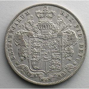 1/2 Crown   1829    TB+/TTB