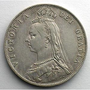 1/2 Crown   1891    TTB