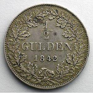 1/2 Gulden   1842    TTB