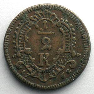 1/2 Kreuzer   1762    TTB