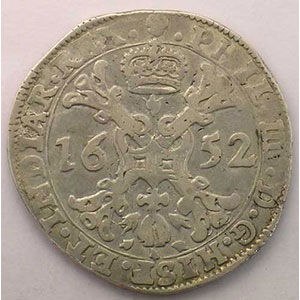1/2 Patagon   Philippe IV (1621-1665)   1652 Bruxelles    TTB