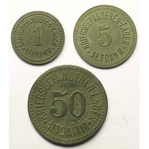 1, 5, 50 (Pfennig)   TB/SUP