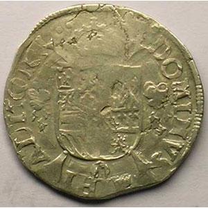 1/5 Ecu   Philippe II (1555-1598)   1566 Anvers    TB