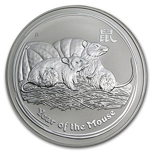 1 Dollar   2008   année du rat (Year of the mouse)    BE