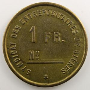1 F   Lt, rond  32.5 mm   Auguste Martz    SUP