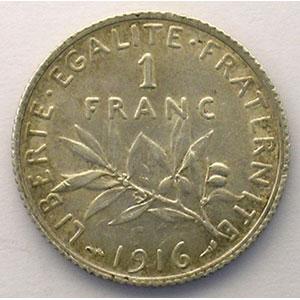 1 Franc   1916    SUP