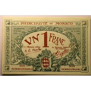 1 Franc   1920 Essai brun    NEUF