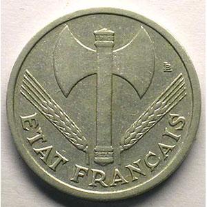 1 Franc  Bazor   1943    TB+/TTB