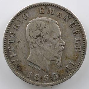 1 Lira   1863 M BN  (Milan/Milano)    TB+/TTB