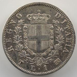 1 Lira   1863 T BN  (Turin/Torino)    TTB