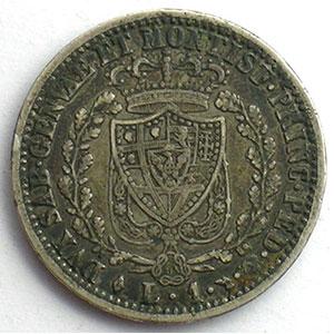 1 Lire   Charles-Félix (1821-1831)   1827 L aigle  (Turin/Torino)    TB+