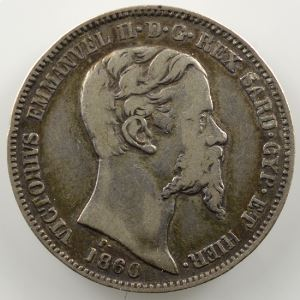 1 Lire   Victor-Emmanuel II (1849-1861)   1860 M  (Milan/Milano)    TTB