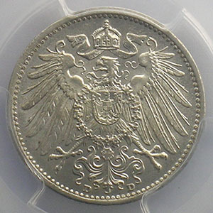 1 Mark   1908 D  (Münich)    PCGS-MS64+    pr.FDC