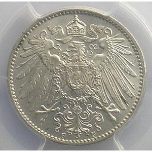 1 Mark   1908 F  (Stuttgart)    PCGS-MS66    FDC exceptionnel