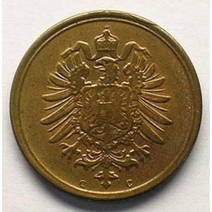 1 Pfennig   1874 C    SUP/FDC