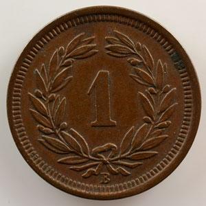 1 Rappen   1891 B    TTB+