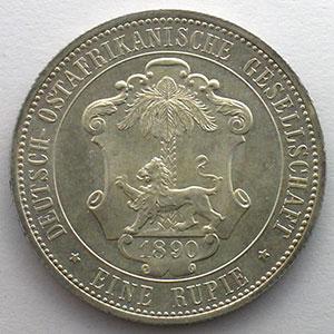 1 Rupie   Guilelmus II Imperator   1890    SUP