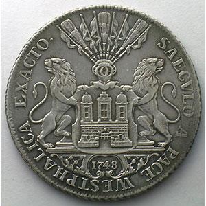 1 Speziesreichstaler   1748 IH L    TTB