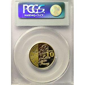 10 €   2003   or    PCGS-PR69DCAM    BE