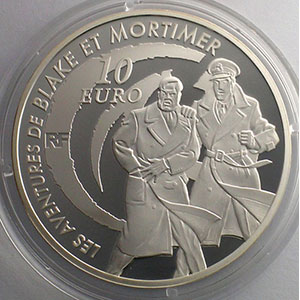 10 €   Les aventures de Blake et Mortimer   2010   37mm   22,2 g - Ag 900 mill.    BE