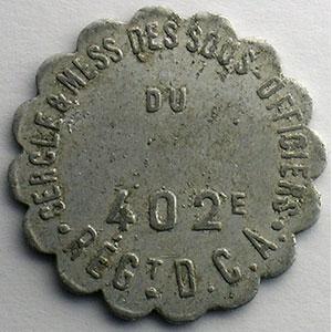 10 c   Alu, R festonné  25 mm    TB+/TTB