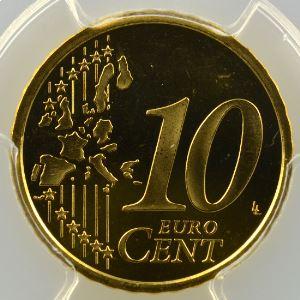 10 Cent   2001    PR67DCAM    BE