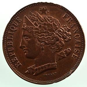 10 Centimes   1848   Concours de Domard   Piéfort en cuivre ép.7mm  revers a    TTB+