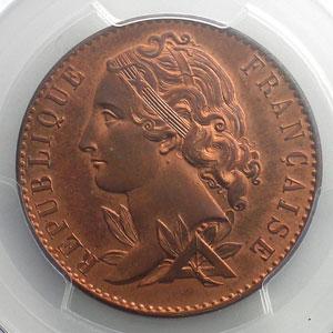 10 Centimes   1848   Concours de Magiadas   cuivre   revers a    PCGS-SP65RD    FDC