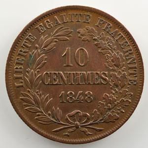 10 Centimes   1848   hors concours modifié de Reynaud   cuivre    SUP