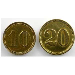 10 et 20 Rappen   (20 et 22mm)    TTB