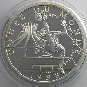 10 Francs   1998   37mm   22,2 g - Ag 900 mill.    BE