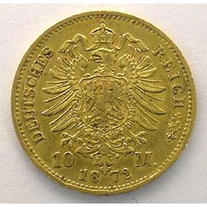 10 Mark   1872 B    TTB+