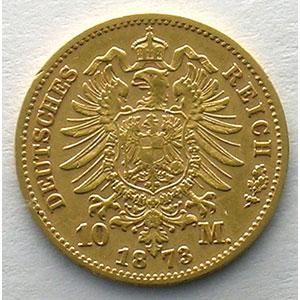 10 Mark   1873 E  (Dresde)    TTB