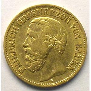 10 Mark   1875 G  (Karlsruhe)    TTB