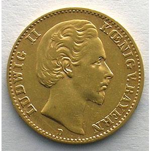 10 Mark   1876 D  (Münich)    TTB