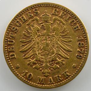10 Mark   1879 E  (Dresde)    TTB