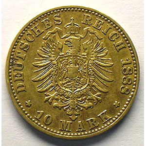 10 Mark   1888 A    TTB