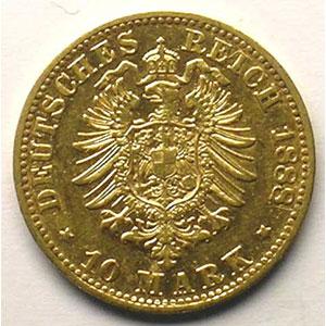 10 Mark   1888 D    TB+