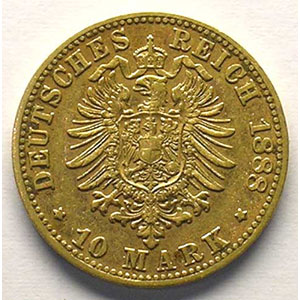 10 Mark   1888 D    TTB