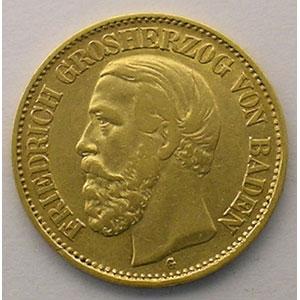 10 Mark   1888 G  (Karlsruhe)    TTB