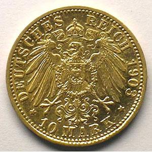 10 Mark   1903 G  (Karlsruhe)    TTB