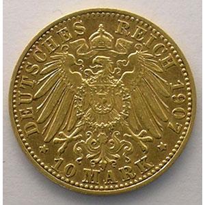 10 Mark   1907 D  (Münich)    TTB+