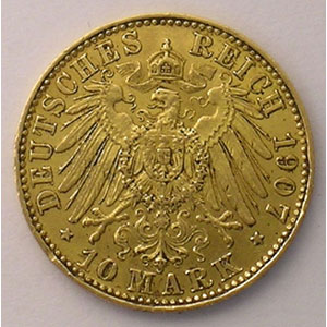 10 Mark   1907 E  (Dresde)    TTB